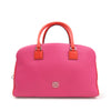 Pink Loewe Leather Boston Bag