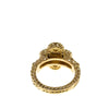 Gold Van Cleef and Arpels Diamond Alhambra Ring