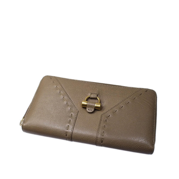 Brown YSL Muse Leather Wallet