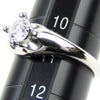 Silver Bvlgari Corona Diamond Ring