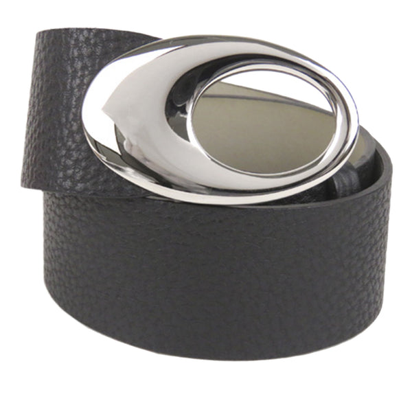 Black Bvlgari Leather Belt