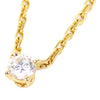 Gold Cartier Diamond Pendant Necklace