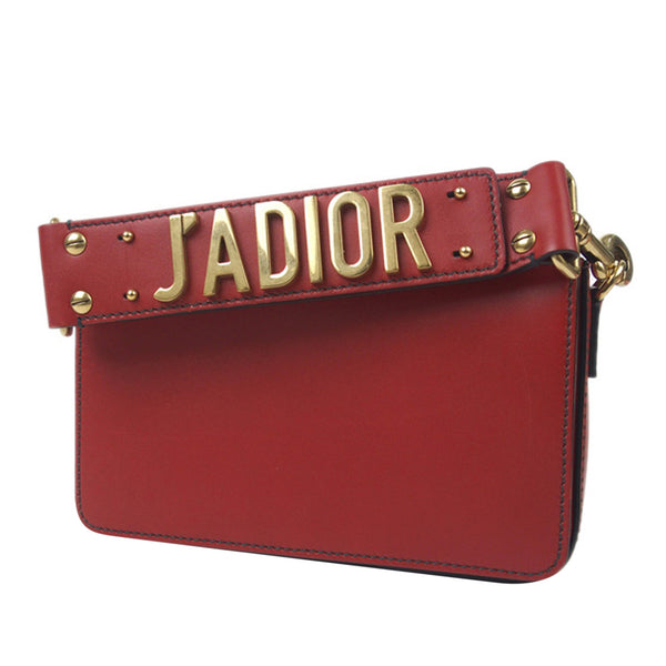 Red Dior JAdior Leather Handbag Bag