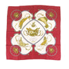 Red Hermes Springs Silk Scarf