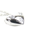 Silver Tiffany Platinum Diamond Etoile Heart Pendant Necklace