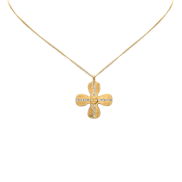 Silver Chanel Clover Necklace