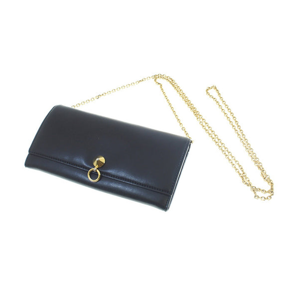 Black Fendi By the Way Chain Wallet