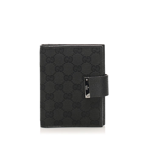 Blue Gucci GG Canvas Agenda Cover
