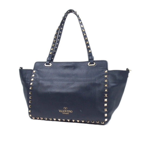 Blue Valentino Rockstud Satchel Bag