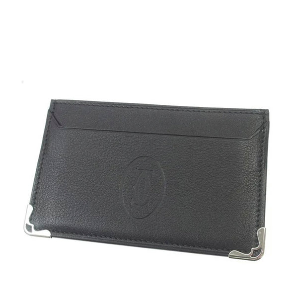 Black Cartier Must de Cartier Leather Card Case