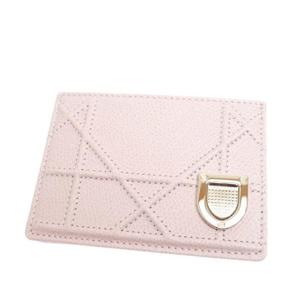 Pink Dior Diorama Leather Card Holder