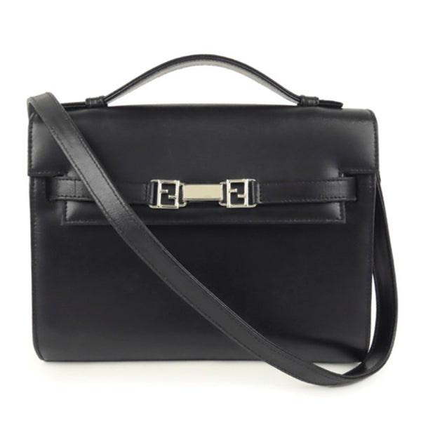Black Fendi Leather Business Bag