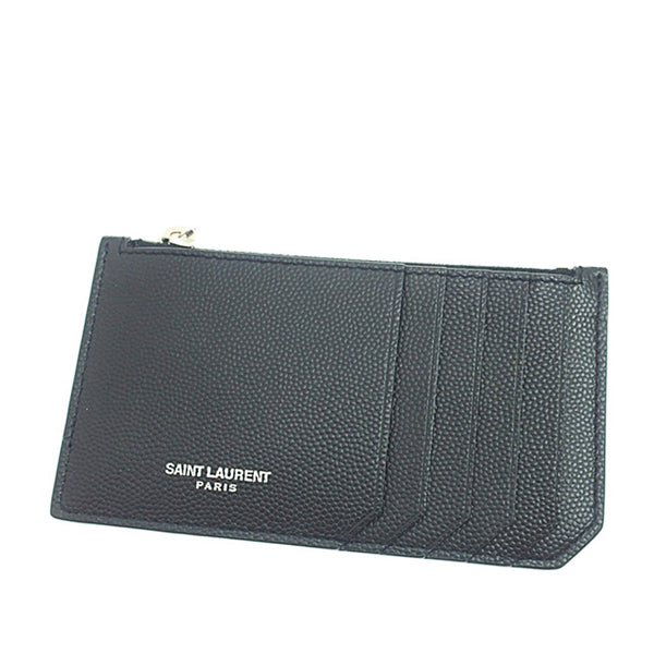 Black YSL Leather Card Holder