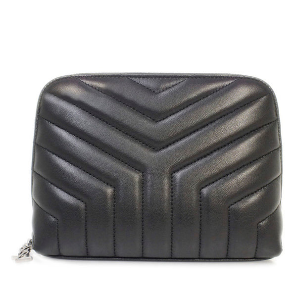 Black YSL Loulou Leather Pouch