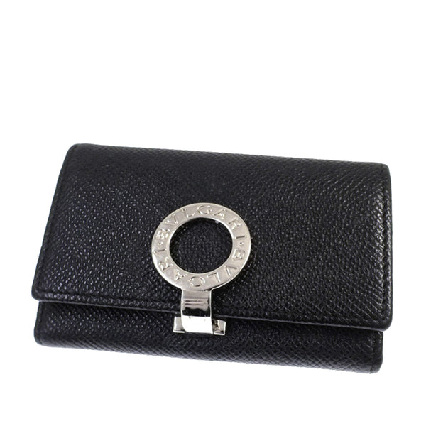 Black Bvlgari Leather Key Holder