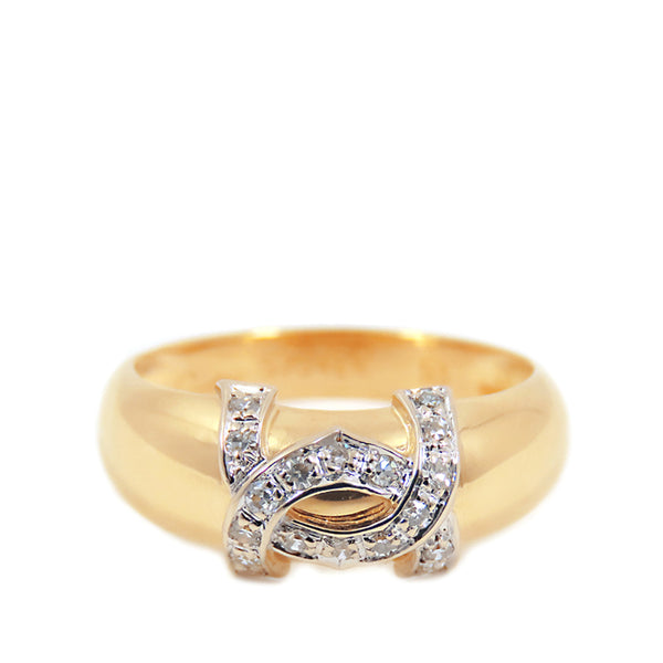 Gold Cartier 18K Dian Diamond Ring