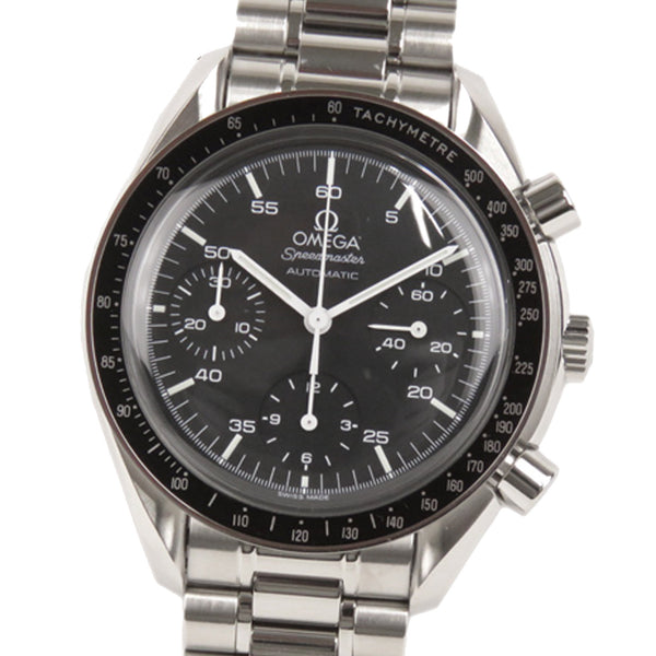 Silver Omega Speedmaster Chronograph Automatic Watch