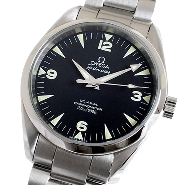 Silver Omega Seamaster Automatic Watch
