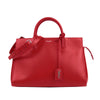 Red YSL Cabas Rive Gauche Leather Satchel Bag