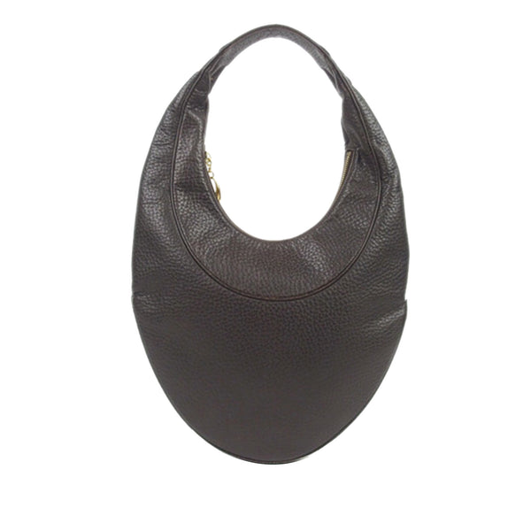 Brown Bvlgari Ascot Leather Hobo Bag