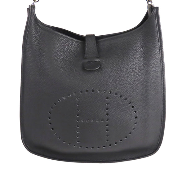Black Hermes Clemence Evelyne II GM Bag