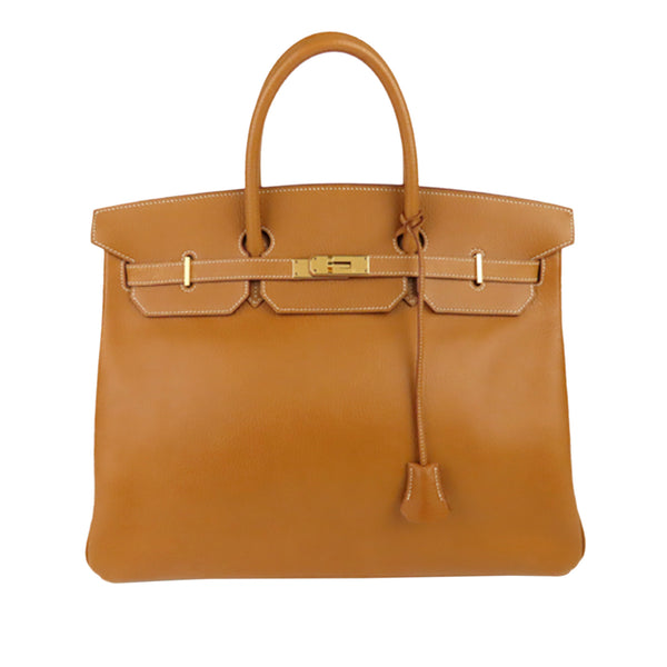 Brown Hermes Clemence Birkin 30 Bag