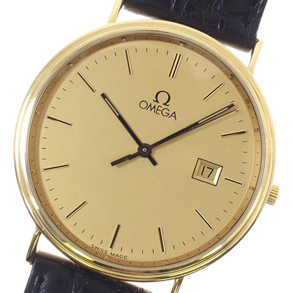 Black Omega De Ville Gold Watch