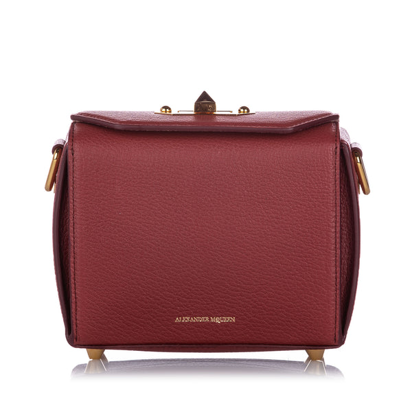 Red Alexander McQueen Box 16 Leather Crossbody Bag