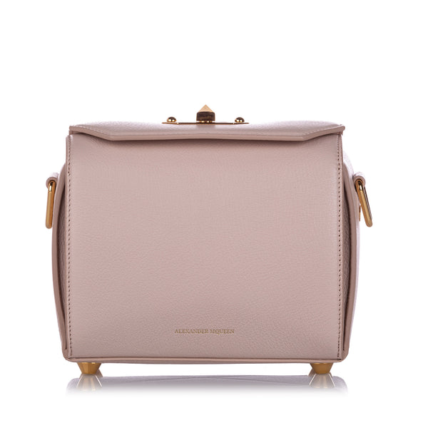 Pink Alexander McQueen Box 19 Leather Crossbody Bag