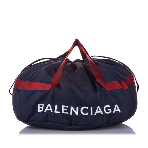 Navy Balenciaga S Wheel Everyday Nylon Travel Bag