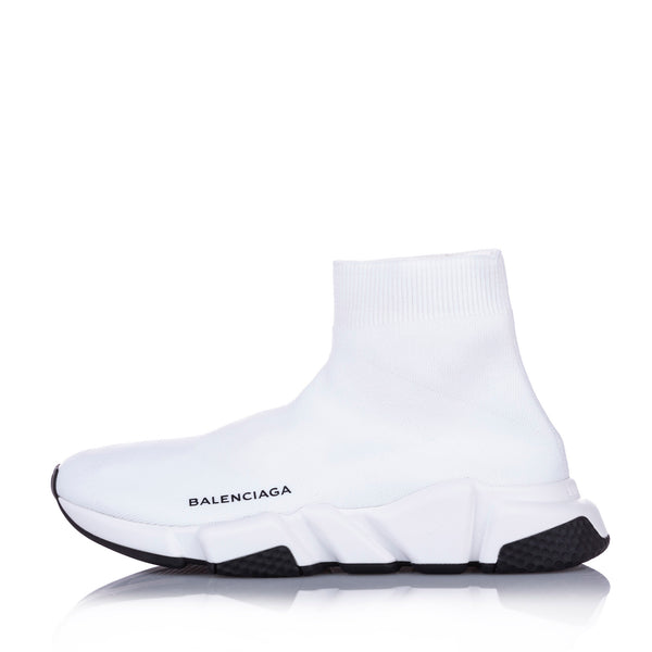 White Balenciaga Speed LT Sneakers