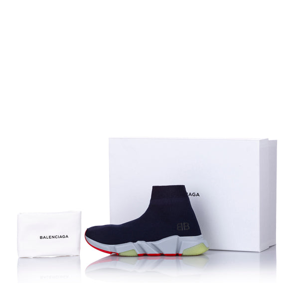 Blue Balenciaga Speed Trainer Sneaker