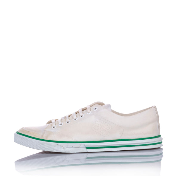 White Balenciaga Match Canvas Sneaker