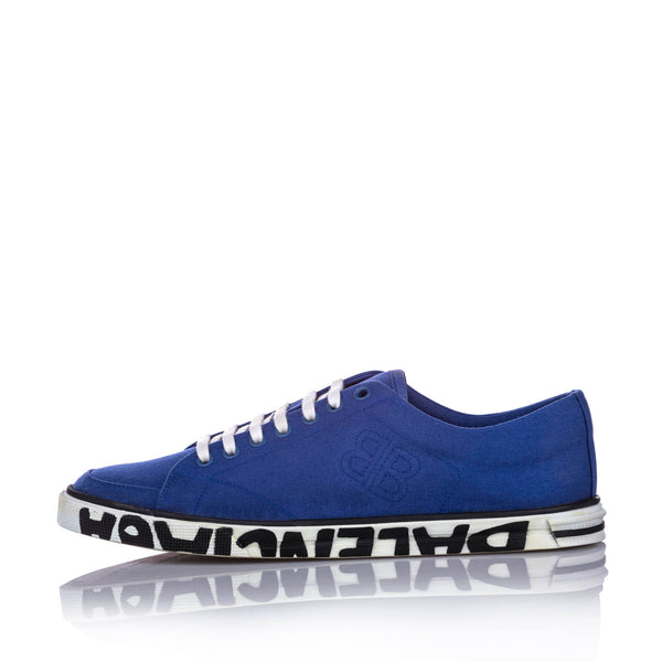 Blue Balenciaga Match Canvas Sneaker- Mens