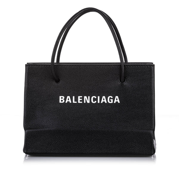 Black Balenciaga S Shopping Leather Satchel Bag