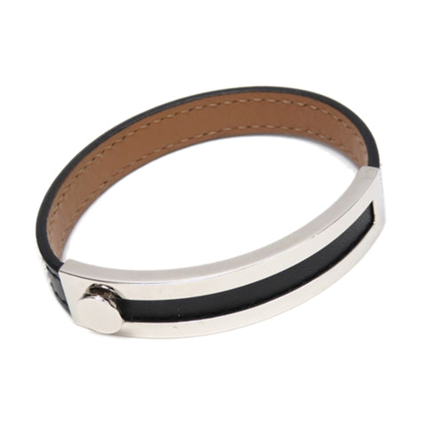 Black Hermes Leather Bracelet