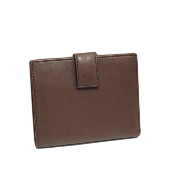 Brown Ferragamo Gancini Leather Small Wallet