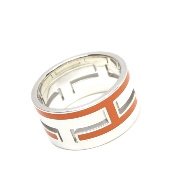 Silver Hermes Move H Ring