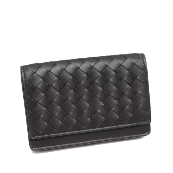 Black Bottega Veneta Intrecciato Leather Card Holder