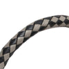 Gray Hermes Braided Bangle Leather Bracelet