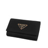 Black Prada Saffiano Key Holder