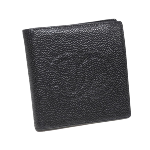 Black Chanel CC Caviar Leather Wallet