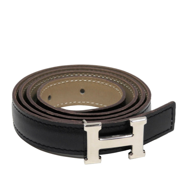 Black Hermes Constance Leather Belt