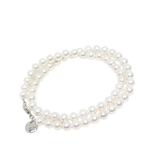 White Tiffany Pearl Beaded Necklace