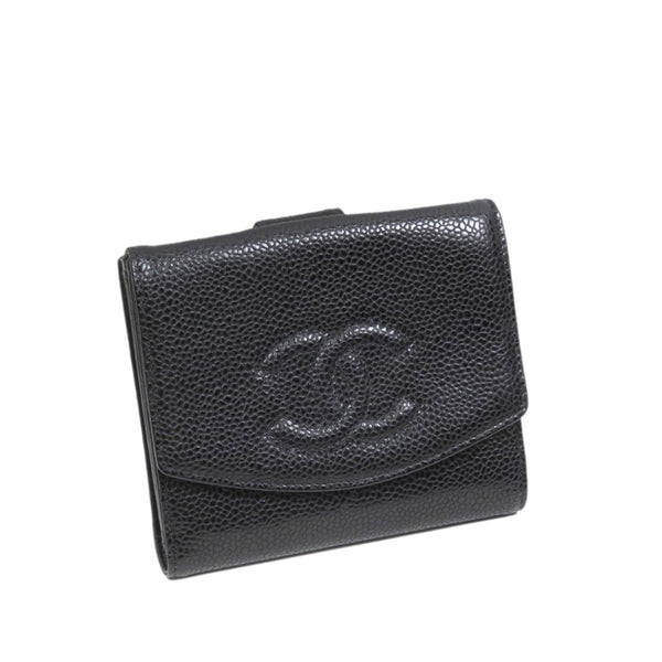 Black Chanel Caviar Leather Wallet