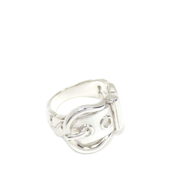 Silver Hermes Belt Buckle Ring