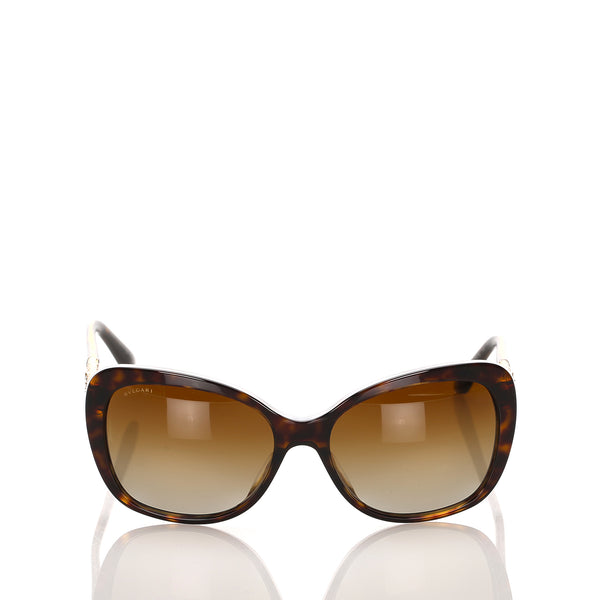 Brown Bvlgari Cat Eye Tinted Sunglasses