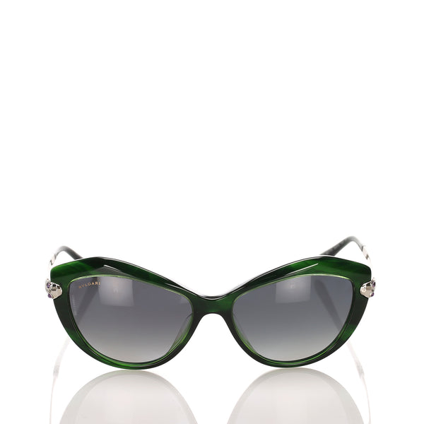 Black Bvlgari Cat Eye Tinted Sunglasses