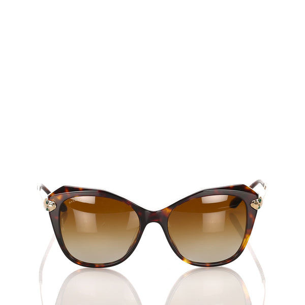 Brown Bvlgari Square Tinted Sunglasses