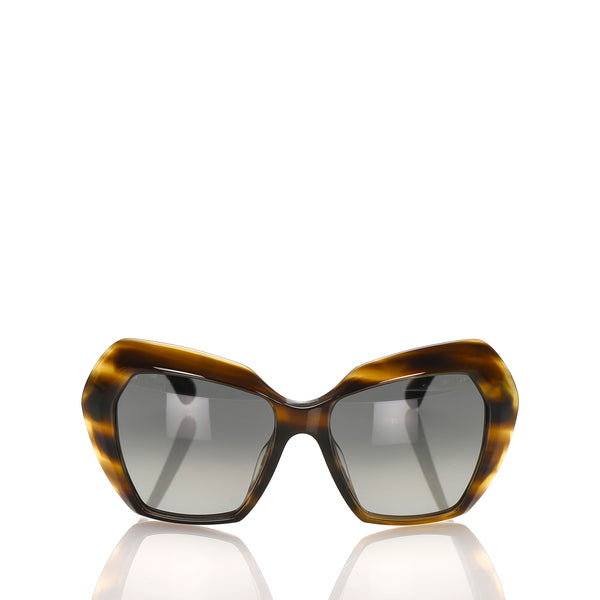 Brown Chanel Butterfly Tinted Sunglasses
